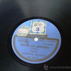 ORQUESTA GALINDOS - ROSA DE MADRID - CHOTIS - ODEON - PIZARRA 78 RPM