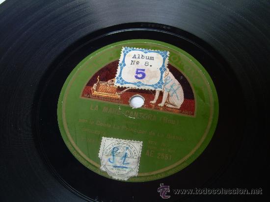 LA COBLA LA PRINCIPAL DE LA BISBAL - CATALUNYA PLORA - SARDANA - LA VOZ DE SU AMO - PIZARRA 78 RPM (Música - Discos - Pizarra - Flamenco, Canción española y Cuplé)