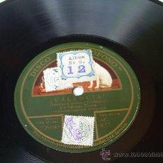 Discos de pizarra: CARMEN FLORES - ¡VALENCIANA! - LA VOZ DE SU AMO - PIZARRA 78 RPM . Lote 17182385