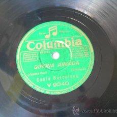 Discos de pizarra: COBLA BARCELONA - GIRONA AIMADA - SARDANA - CATALUÑA - COLUMBIA - PIZARRA 78 RPM . Lote 15839174