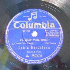 Discos de pizarra: COBLA BARCELONA - EL BON PASTORET - SARDANA - CATALUÑA - COLUMBIA - PIZARRA 78 RPM . Lote 15839175