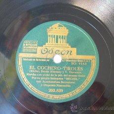 Discos de pizarra: MICHEL - EL COCHERO TIROLÉS - MARCHA, VALS - ODEÓN - PIZARRA 78 RPM . Lote 18057026