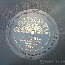 Dischi in gommalacca: MARIANO SAN MIGUEL - ALEGRÍA - JOTA, VALS POPULAR - HOMOKORD - PIZARRA 78 RPM. Lote 17917387