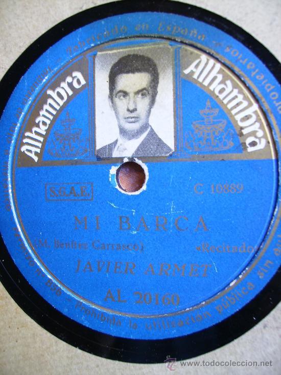 A MARGARITA RUBEN DARIO RECITADO JAVIER ARMET Y MI BARCA DE BENITEZ CARRASCO RECITADO (Música - Discos - Pizarra - Jazz, Blues, R&B, Soul y Gospel)