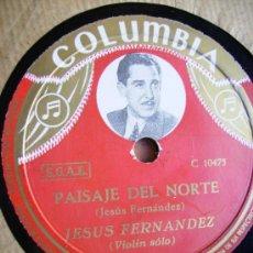 Discos de pizarra: CAPRICHO ESLAVO, JESUS FERNANDEZ Y PAISAJE DEL NORTE. Lote 26954112