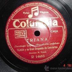 Discos de pizarra: 1234 ANGELILLO PASODOBLE FLAMENCO Y TRIANA DISCO COLUMBIA MAS EN C&C. Lote 25491097