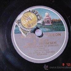 Discos de pizarra: 1362 SALUD RUIZ - MON HOMME Y NENA DISCOS ODEON - MIRA MAS EN MI TIENDA C&C. Lote 25491092