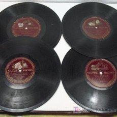 Discos de pizarra: LOTE DE 4 DISCOS EMILIO SAGUI BARBA MOLINOS DE VIENTO, MUJER Y REINA, LA TEMPESTAD, EL GRUMETE VICTO. Lote 26295533