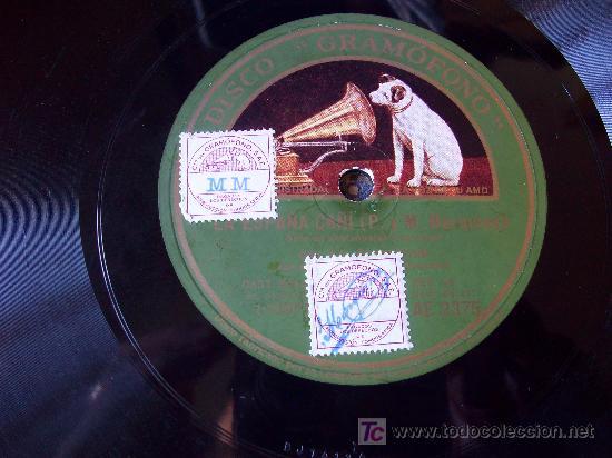 Discos de pizarra: Disco de Pizarra: Sello Voz de su Amo. La Argentinita/ España Cañí /Córdoba - Foto 2 - 24846565
