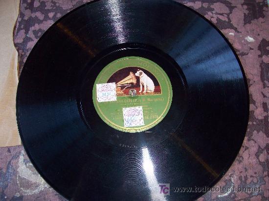 DISCO DE PIZARRA: SELLO VOZ DE SU AMO. LA ARGENTINITA/ ESPAÑA CAÑÍ /CÓRDOBA (Música - Discos - Pizarra - Flamenco, Canción española y Cuplé)