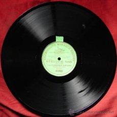 Discos de pizarra: OTELLO, POR FRANCESCO TAMAGNO- GRAMOPHONE MONARCH RECORD. PIZARRA. CA 1903. UNA CARA.. Lote 26526988