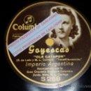 Discos de pizarra: DISCO 78 RPM - IMPERIO ARGENTINA CON ORQUESTA - COLUMBIA - OLE CATAPUN / MAJA Y CONDESA - PIZARRA. Lote 16671425