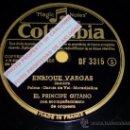 Discos de pizarra: DISCO 78 RPM - EL PRÍNCIPE GITANO CON ORQUESTA - ENRIQUE VARGAS / ANDA Y DALE - PIZARRA. Lote 16671778