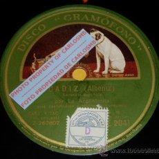Discos de pizarra: DISCO 78 RPM - GRAMOFONO - LA ARGENTINITA - CÁDIZ - SEVILLA - ALBÉNIZ - FLAMENCO - PIZARRA. Lote 16673192