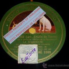Discos de pizarra: DISCO 78 RPM - LA ARGENTINITA - LA CLARA / CAMBIO DE LÍNEA - GRAMÓFONO - PIZARRA. Lote 16673259