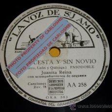 Discos de pizarra: DISCO 78 RPM - VSA - JUANITA REINA CON ORQUESTA - COMPUESTA Y SIN NOVIO - TU ERES MI MARÍO - PIZARRA. Lote 16673804