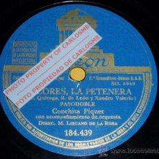 Discos de pizarra: DISCO 78 RPM - CONCHITA PIQUER CON ORQUESTA - DOLORES LA PETENERA / TUS OJOS NEGROS - PIZARRA. Lote 16674149