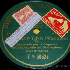 Discos de pizarra: DISCO 78 RPM - DPG GREEN - ORQUESTA DE LA COMPAÑÍA DEL GRAMOPHONE BARCELONA - ESTUDIANTINA - PIZARRA. Lote 16688843