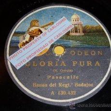 Discos de pizarra: DISCO 78 RPM - BANDA DEL REGIMIENTO DE BADAJOZ - ODEON ACÚSTICO - PIZARRA. Lote 16688918