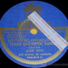 Discos de pizarra: DISCO 78 RPM - JOSÉ OTO CON RONDALLA - ODEON - JOTAS ARAGONESAS - PIZARRA. Lote 16690269