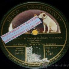 Discos de pizarra: DISCO 78 RPM - CASIMIRO ORTAS - SOBEJANO - DISCO HABLADO - GRAMÓFONO - PIZARRA. Lote 16690682