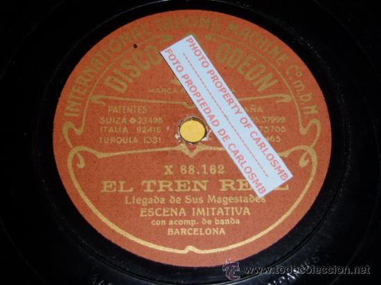 DISCO 78 RPM - ODEON - ESCENA IMITATIVA - BANDA - EL TREN REAL - CORRIDA DE TOROS - PIZARRA (Música - Discos - Pizarra - Otros estilos)