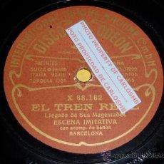 Discos de pizarra: DISCO 78 RPM - ODEON - ESCENA IMITATIVA - BANDA - EL TREN REAL - CORRIDA DE TOROS - PIZARRA. Lote 16690726