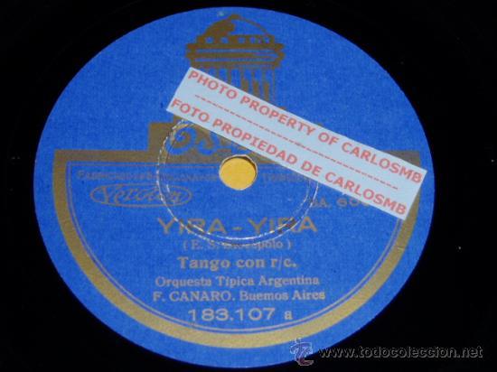 DISCO 78 RPM - ORQUESTA TÍPICA ARGENTINA FRANCISCO CANARO - TANGOS - ODEON - PIZARRA (Música - Discos - Pizarra - Solistas Melódicos y Bailables)
