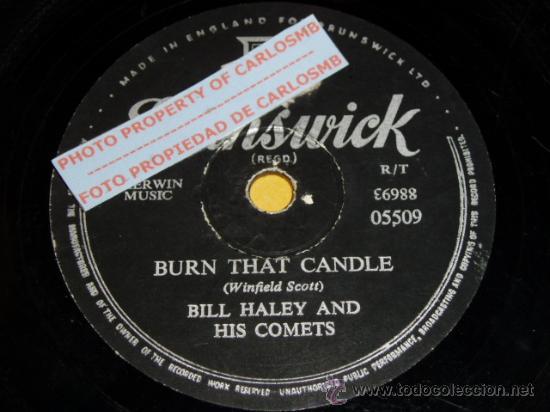 DISCO 78 RPM - BILL HALEY AND HIS COMETS - ROCK AND ROLL - BRUNSWICK - PIZARRA (Música - Discos - Pizarra - Jazz, Blues, R&B, Soul y Gospel)