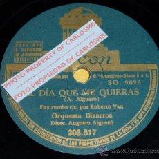Discos de pizarra: DISCO 78 RPM - ORQUESTA BIZARROS CON AUGUSTO ALGUERÓ - FOX - ODEON - PIZARRA. Lote 17043884