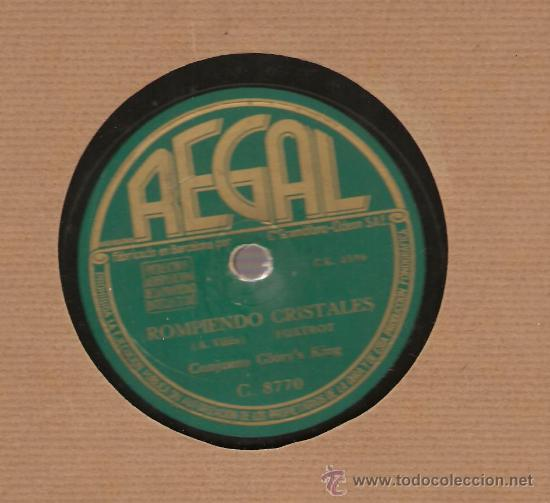 CONJUNTO GLORY´S KING: JAM SESION + ROMPIENDO CRISTALES (Música - Discos - Pizarra - Jazz, Blues, R&B, Soul y Gospel)