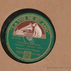 Discos de pizarra: DUKE ELLINGTON : CLEMENTINA + FIVE O´CLOCK DRAG. Lote 17293382