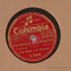 Discos de pizarra: TED HEATH Y SU ORQUESTA: PATRULLA DE COSACOS + PENSANDO EN TI . Lote 17293557