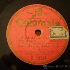 Discos de pizarra: CELIA GAMEZ. CANTAR CANTAR CANCION-FOX + MI COLOR MARFIL CANCION-FOX. Lote 17758318