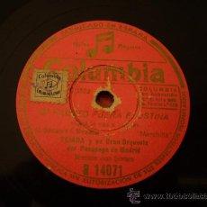 Discos de pizarra: CELIA GAMEZ. CONTIGO IRE + TEJADA. QUE LE VAS A HACER.. Lote 17758381