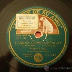Discos de pizarra: MARTA LLERGO. CAMINA COMO CHENCHA + NOCHE DE RONDA. Lote 17758458
