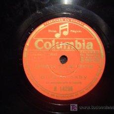 Discos de pizarra: DISCO GRAMOFONO COLUMBIA - ESTRELLA DE LOS VIENTOS - BING CROSBY. Lote 26666354