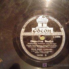 Discos de pizarra: DISCO GRAMOFONO ODEON - CHEPOCHIMA NENDIVE - CANCION TIPICA PARAGUAYA - FELIX PEREZ CARDOZO. Lote 27624492