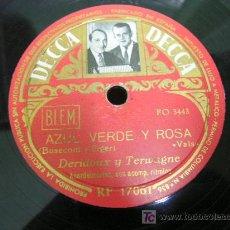 Discos de pizarra: DISCO DE PIZARRA. AZUL VERDE Y ROSA - DULCEMENTE. Lote 18864973