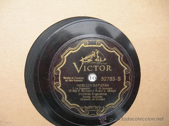 DISCO DE PIZARRA IMPERIO ARGENTINA (Música - Discos - Pizarra - Bandas Sonoras y Actores )