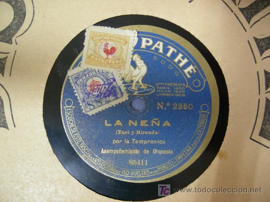 Discos de pizarra: disco pizarra pathe el aguador granadino Y LA NEÑA por la tempranica - Foto 2 - 27281166