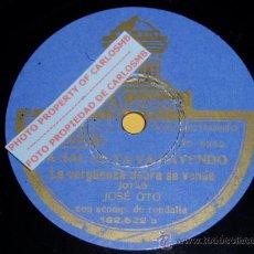 Discos de pizarra: DISCO 78 RPM - JOSÉ OTO CON RONDALLA - ODEON - JOTAS ARAGONESAS - PIZARRA. Lote 19281935