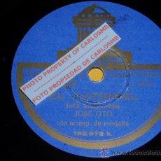 Discos de pizarra: DISCO 78 RPM - JOSÉ OTO CON RONDALLA - ODEON - JOTAS ARAGONESAS - PIZARRA. Lote 19281968