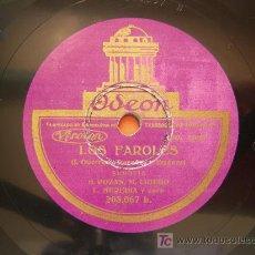 Discos de pizarra: DISCO PIZARRA LOS FAROLES, B. POZAS Y M. LIGERO, SCHOTTISH Y HIMNO, ODEON. Lote 26878046