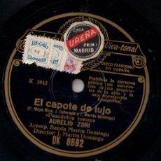Discos de pizarra: AURELIO ZORI - EL CAPOTE DE LUJO / PORTORRIQUEÑAS - PIZARRA REGAL - DK 8692 - ESPAÑA - A2-3. Lote 27292499