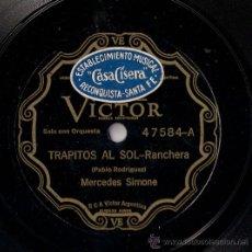 Discos de pizarra: MERCEDES SIMONE - TRAPITOS AL SOL / MARUSKA - PIZARRA 10'' RCA VICTOR - 47584 - ARGENTINA. Lote 26554953