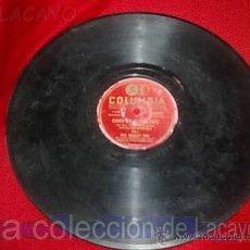 Discos de pizarra: DISCO COLUMBIA DE PIZARRA. Lote 21643397