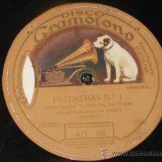 Discos de pizarra: PETENERAS Nº 1 Y TANGO DE LA TONTONA, POR LA NIÑA DE LOS PEINES. AG 68. FLAMENCO. Lote 27580480