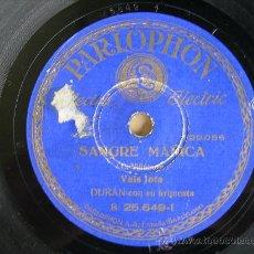 Discos de pizarra: SANGRE MAÑICA, VALS JOTA Y LOS SOBRINOS DEL CAPITAN GRANT HABANERA. Lote 25876715