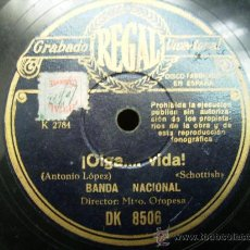 Discos de pizarra: OIGA VIDA, SCHOTTISH, JUANITO MARAVILLAS, PASODOBLE TORERO. Lote 25876739